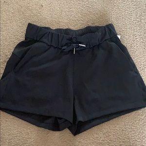 Lululemon black workout shorts size two